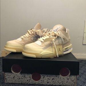 Off white Jordan 4s
